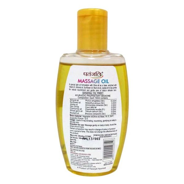 Patanjali Shishu care massage oil image, massage oil