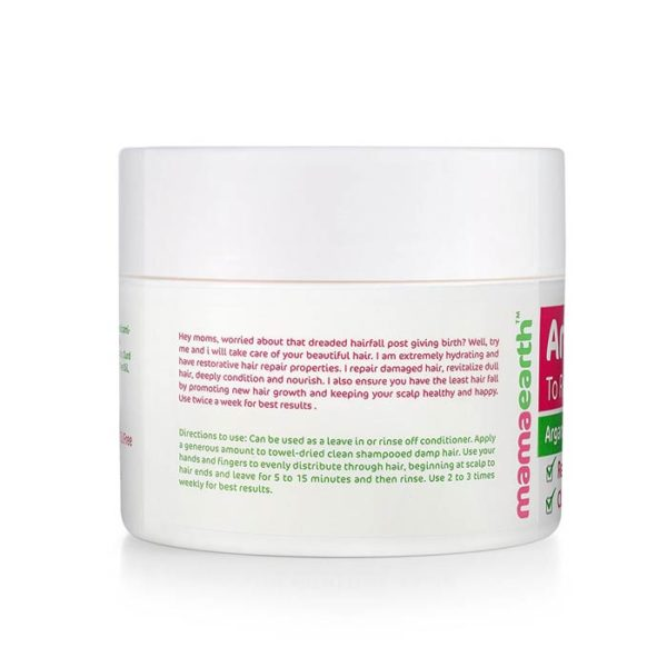 Mamaearth Argan Hairfall Control Mask, mamaearth hair mask, anti hairfall